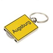 Einkaufswagenchip Ortschild Augsburg